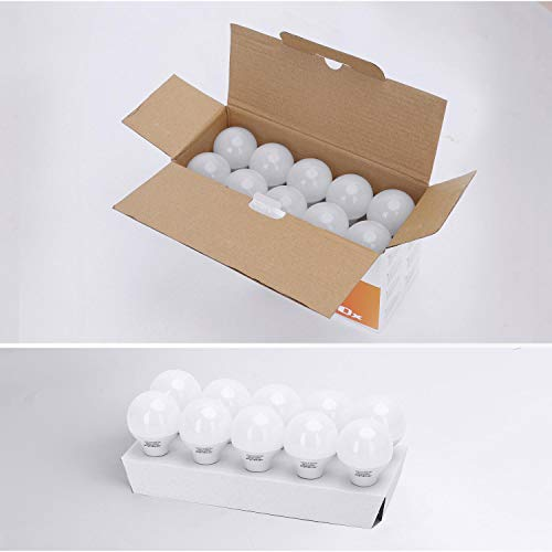 E14 Small Edison Screw Golf Ball Bulb, Aigostar A60 SES LED Light Bulbs 5W(35W Equivalent), 3000K Warm White E14 LED… 9