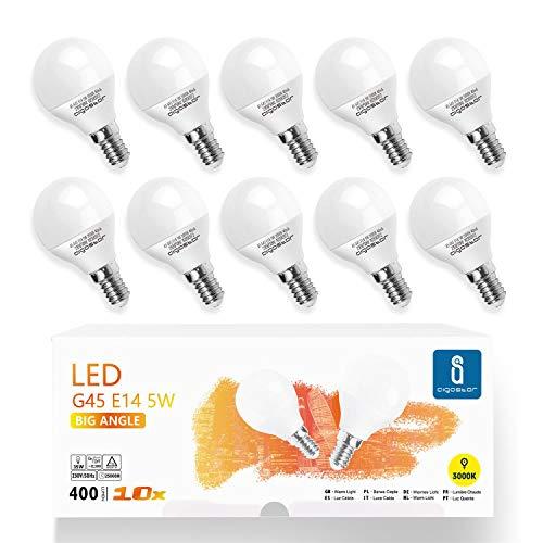 E14 Small Edison Screw Golf Ball Bulb, Aigostar A60 SES LED Light Bulbs 5W(35W Equivalent), 3000K Warm White E14 LED… 1