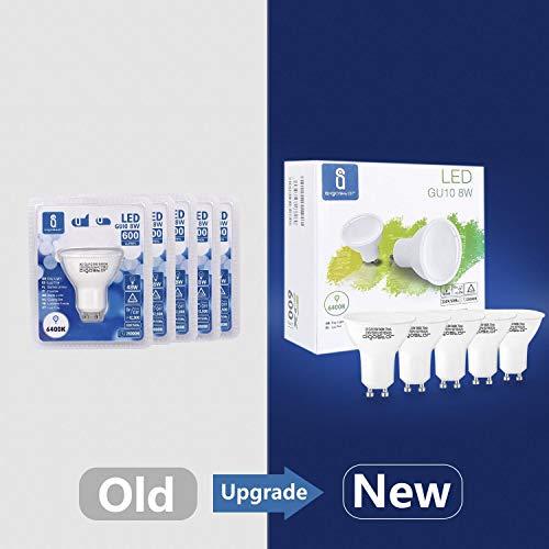Aigostar GU10 LED Bulbs Cool White, 8W 6400K 600 Lumen, 5 Pcs/Box, 160° Beam Angle, Flicker Free [Energy Class A+] 4