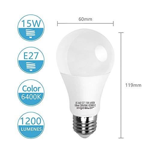 LED E27 Edison Screw Bulbs, Aigostar 15W A60 E27 Light Bulb, E27 Led Bulb Warm White 3000K Energy Saving Light Bulbs… 4