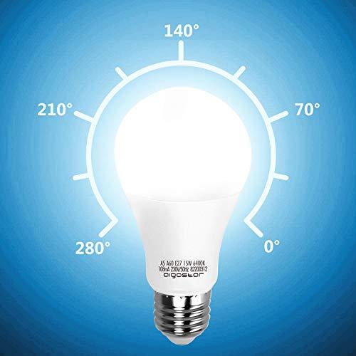 LED E27 Edison Screw Bulbs, Aigostar 15W A60 E27 Light Bulb, E27 Led Bulb Warm White 3000K Energy Saving Light Bulbs… 5