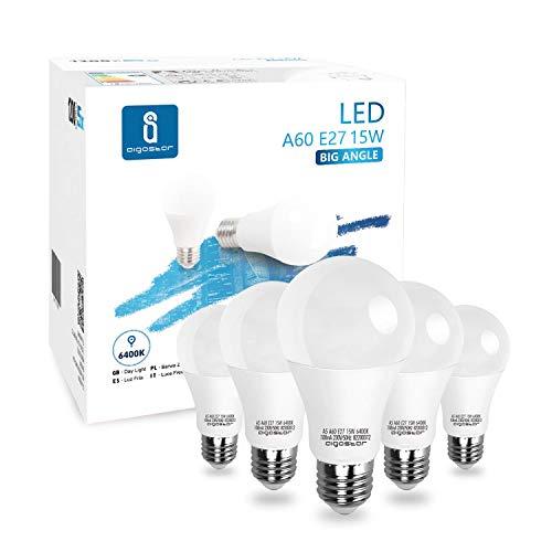 LED E27 Edison Screw Bulbs, Aigostar 15W A60 E27 Light Bulb, E27 Led Bulb Warm White 3000K Energy Saving Light Bulbs… 1