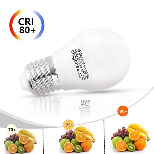 5W E27 Golf Ball Bulb, Aigostar G45 LED Lights Bulbs, 3000K Warm White Edison Screw Bulb 35W Incandescent Bulb… 6