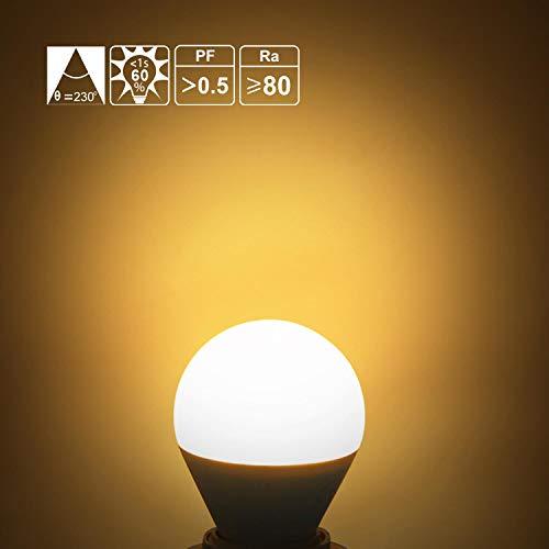 E14 Small Edison Screw Golf Ball Bulb, Aigostar G45 SES LED Light Bulbs 7W(43W Equivalent), 3000K Warm White E14 LED… 4