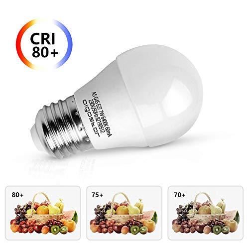 7W E27 Golf Ball Bulb, Aigostar G45 LED Lights Bulbs, 6400K Cool White Edison Screw Bulb 45W Incandescent Bulb… 4