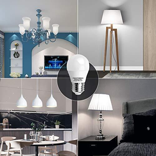 7W E27 Golf Ball Bulb, Aigostar G45 LED Lights Bulbs, 6400K Cool White Edison Screw Bulb 45W Incandescent Bulb… 7