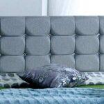 4FT6 Double FOOT JAMBO DRAWER Paris Grey Fabric Divan Bed Set, Memory Mattress and headboard.UK 12