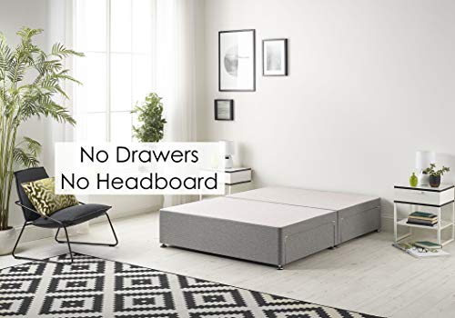 Bed Centre Tweed Gray Flexby Divan Bed Base - Headboard And Storage Drawer (Single, Small Double, Double, King and Super… 3