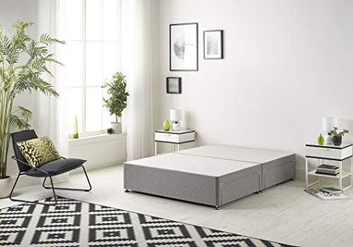 Bed Centre Tweed Gray Flexby Divan Bed Base - Headboard And Storage Drawer (Single, Small Double, Double, King and Super… 1