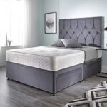 Bed Centre Ziggy Grey Plush Sprung Memory Foam Divan Bed Set With Mattress, 2 Drawers (Bottom Base) And Headboard (Small… 9
