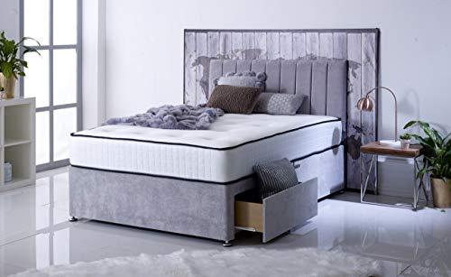 Comfort Night Sleep's Bravo Divan Bed and Mattress Set with Free Headboard   2 Drawer same side   (3FT Single) 1