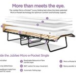 JAY-BE Jubilee Folding Bed with Micro e-Pocket Mattress, Fabric, Black, Compact, Single size 13