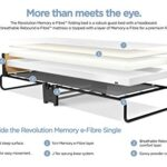 JAY-BE Revolution Folding Bed with Memory e-Fibre Mattress, Fabric, Black, Compact 21