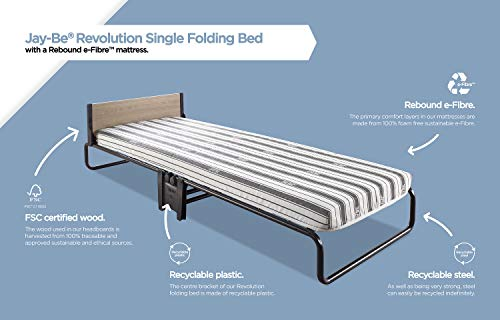 JAY-BE Revolution Folding Bed with Rebound e-Fibre Mattress, Compact, Single 7