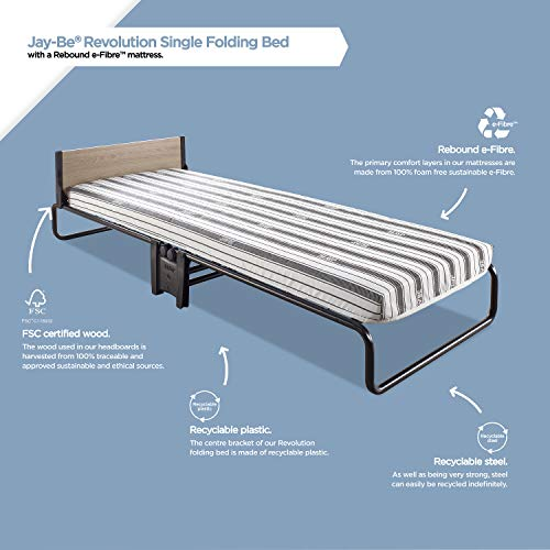 JAY-BE Revolution Folding Bed with Rebound e-Fibre Mattress, Compact, Single 10