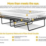 JAY-BE Supreme Folding Bed with Rebound e-Fibre Mattress and Automatic Folding Legs, Compact, Small Double 19