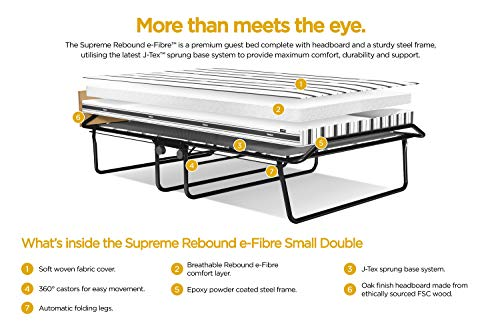 JAY-BE Supreme Folding Bed with Rebound e-Fibre Mattress and Automatic Folding Legs, Compact, Small Double 6