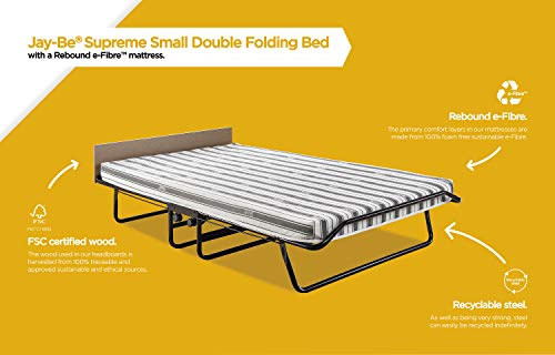 JAY-BE Supreme Folding Bed with Rebound e-Fibre Mattress and Automatic Folding Legs, Compact, Small Double 7