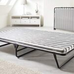 JAY-BE Value Folding Bed with Rebound e-Fibre Mattress, Fabric, Black, Easy Storage 17