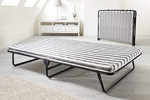 JAY-BE Value Folding Bed with Rebound e-Fibre Mattress, Fabric, Black, Easy Storage 4