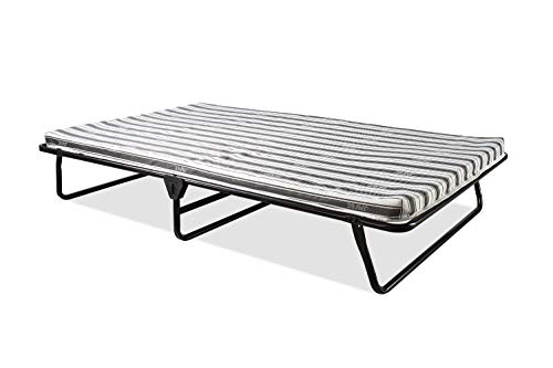 JAY-BE Value Folding Bed with Rebound e-Fibre Mattress, Fabric, Black, Easy Storage 1