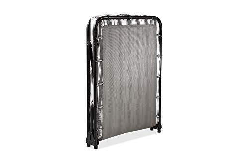 JAY-BE Value Folding Bed with Rebound e-Fibre Mattress, Fabric, Black, Lightweight 3