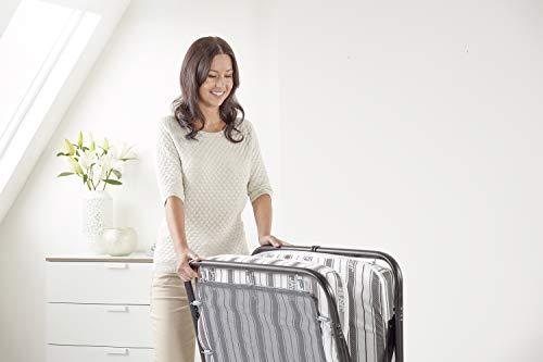JAY-BE Value Folding Bed with Rebound e-Fibre Mattress, Fabric, Black, Lightweight 4