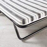 JAY-BE Value Folding Bed with Rebound e-Fibre Mattress, Fabric, Black, Lightweight 20