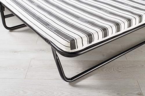 JAY-BE Value Folding Bed with Rebound e-Fibre Mattress, Fabric, Black, Lightweight 5