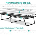 JAY-BE Value Folding Bed with Rebound e-Fibre Mattress, Fabric, Black, Lightweight 21