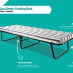 JAY-BE Value Folding Bed with Rebound e-Fibre Mattress, Fabric, Black, Lightweight 22