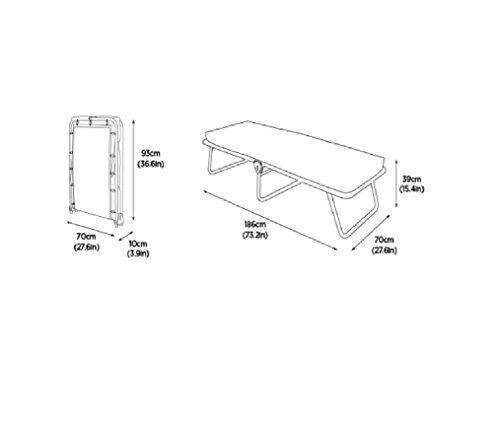JAY-BE Value Folding Bed with Rebound e-Fibre Mattress, Fabric, Black, Lightweight 8