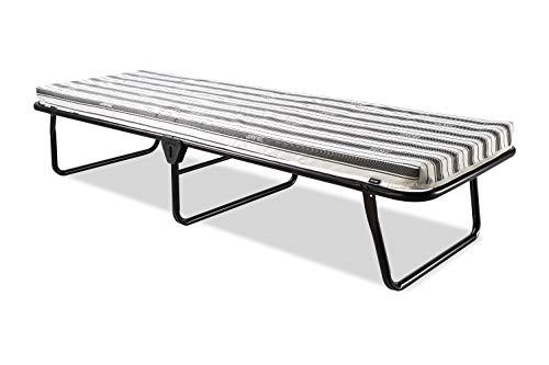 JAY-BE Value Folding Bed with Rebound e-Fibre Mattress, Fabric, Black, Lightweight 1