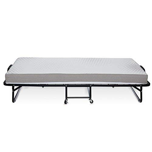 """Milliard Diplomat Folding Bed/Guest Bed – Small Single (31"""" Wide) with 12.5 cm Thick Luxurious Memory Foam Mattress and a Super Strong Sturdy Frame – 190 x 79cm 3"""
