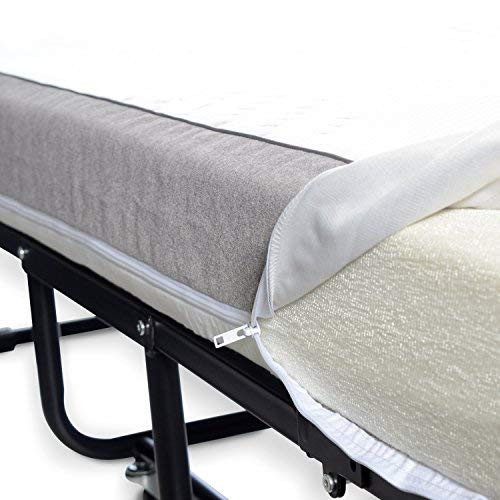"""Milliard Diplomat Folding Bed/Guest Bed – Small Single (31"""" Wide) with 12.5 cm Thick Luxurious Memory Foam Mattress and a Super Strong Sturdy Frame – 190 x 79cm 8"""