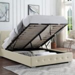 Ottoman Storage Bed Cream   Small Double Bed Frame With Storage & Gas Lift 4ft   Upholstered in Durable Cream Linen… 12