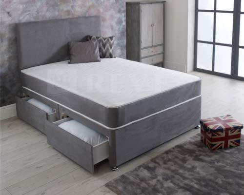Orthopedic Divan bed double 4ft 6 with mattress and headboard and 2 drawers - Double (4'6) - 135cm x 190cm 1