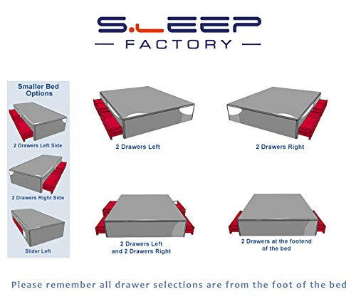 Sleep Factory's Black Fabric Memory Foam Divan Bed Set With Mattress And Headboard 3ft 4ft 4ft6 5ft 6ft Single Double… 5