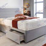 Sleep Factory's Grey Pearl 2 Drawer Divan Bed Set, Mattress and Headboard (2.6FT (Small Single)) 14