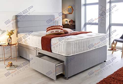 Sleep Factory's Grey Pearl 2 Drawer Divan Bed Set, Mattress and Headboard (2.6FT (Small Single)) 3