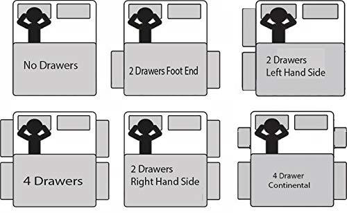 Sleep Factory's Grey Pearl 2 Drawer Divan Bed Set, Mattress and Headboard (2.6FT (Small Single)) 5