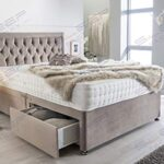 Sleep Factory's Luxury Divan Bed Set in Pebble Plush with Chesterfield Bumper Headboard and Memory Sprung Mattress 2.6FT… 14