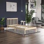 Vida Designs Milan Single Bed, 3ft, Bed Frame, Solid Pine Wood, Headboard, Low Foot End, Bedroom Furniture, Pine 18