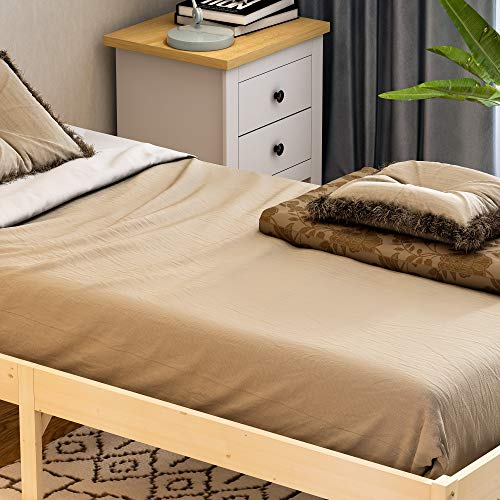 Vida Designs Milan Single Bed, 3ft, Bed Frame, Solid Pine Wood, Headboard, Low Foot End, Bedroom Furniture, Pine 5