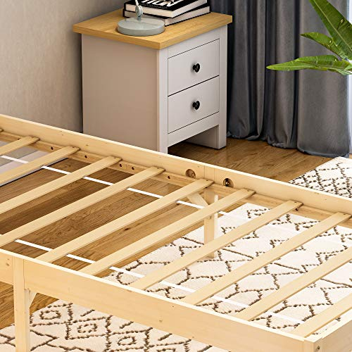 Vida Designs Milan Single Bed, 3ft, Bed Frame, Solid Pine Wood, Headboard, Low Foot End, Bedroom Furniture, Pine 6
