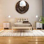 Vida Designs Milan Single Bed, 3ft, Bed Frame, Solid Pine Wood, Headboard, Low Foot End, Bedroom Furniture, Pine 22