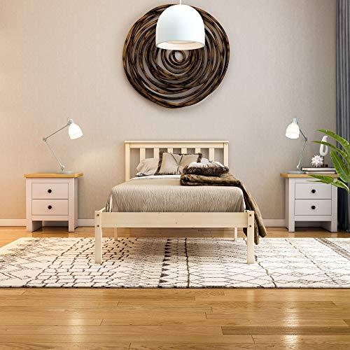 Vida Designs Milan Single Bed, 3ft, Bed Frame, Solid Pine Wood, Headboard, Low Foot End, Bedroom Furniture, Pine 7