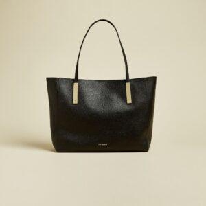 PIONILA Leather tote bag Black