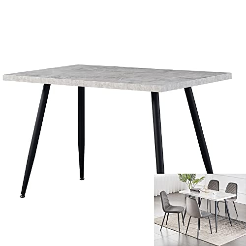 AINPECCA Dining Table with Metal Legs Kitchen Table