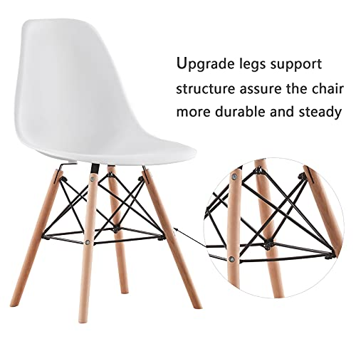 AINPECCA Dining Room Table and Chairs Set 4 Modern Kitchen Table and 4 Plastic Chair Office Lounge